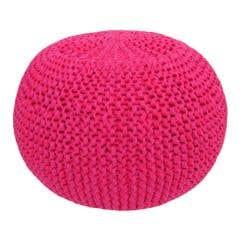 DIY Crochet & Knit Kit Zpagetti Pouf Hot Pink