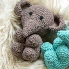 DIY Crochet kit Elephant Eco Barbante Taupe