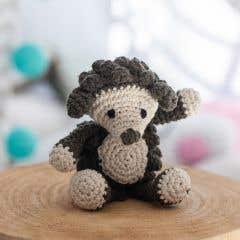 DIY Crochet Kit Hedgehog Hazel Eco Barbante