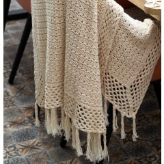 DIY Crochet Kit Cipressa Boho Throw Blanket