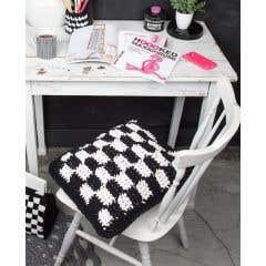DIY Crochet Pattern Graphic Cushion