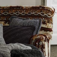 DIY Crochet Kit RibbonXL Cushion Stone Grey