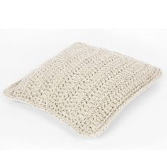 DIY Crochet Kit RibbonXL Cushion Sandy Ecru