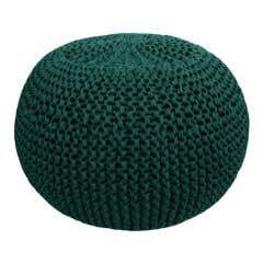 DIY Crochet & Knit Kit Zpagetti Pouf Racing Green