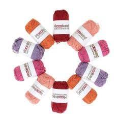 Pack de 10 Ovillos Soft Cotton DK Malibu Bliss