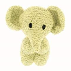 DIY Crochet Set Elephant Eco Barbante Popcorn