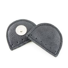 Leather Magnetic Bag Lock Black