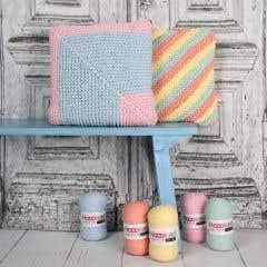 DIY Knit Pattern Candy Coloured Cushions RibbonXL