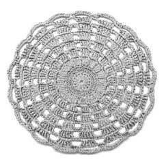 DIY Haakpakket Mandala Vloerkleed Silver Grey