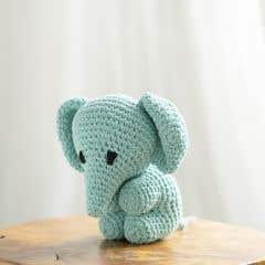 DIY Crochet Set Elephant Eco Barbante Spring
