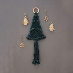 DIY Macramé Kit Christmas Tree Wall Hanger Pine