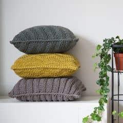 DIY Knitting Kit Cushion Bulky Textures Dried Herb
