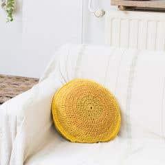 DIY Crochet Pattern Round Cushion jakarta