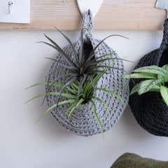 DIY Crochet Kit Storage Bag Grey