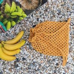 DIY Crochet Kit Drawstring Backpack Monza - Curry
