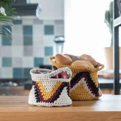 DIY Crochet Pattern Tapestry Basket Positano