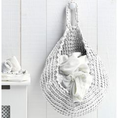 DIY Crochet Kit Storage Bag Off-White