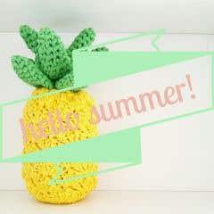 DIY Free Crochet pattern Funky Pineapple