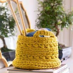DIY Crochet Kit Revisto Basket Yellow