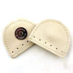Cierre de bolso magnético de cuero crema