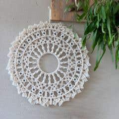 DIY Patrón de Macramé Mandala Villalba