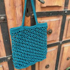 DIY Crochet Kit Shopping bag Trogir Petrol