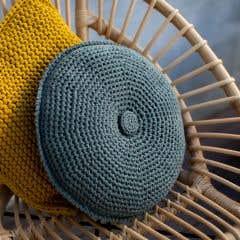 DIY Kit de Crochet Redondo Cojín Estoril Aspen