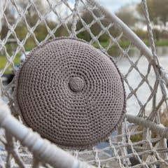 DIY Kit de Crochet Redondo Cojín Estoril Taupe