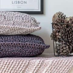 DIY Knitting Kit Cushion Luxor Rocket Blitz