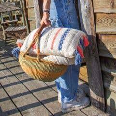 DIY Crochet Kit Tuvalu Cushion Cover Vaniglia