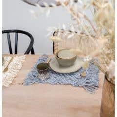 DIY Macramé Kit Table Mat Ponza Grey Mist