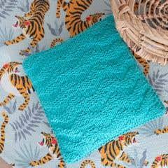 DIY Knitting Kit Cushion Bulky Textures Happy Mint