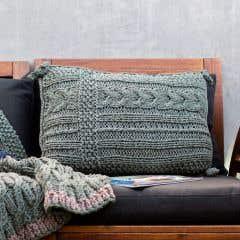 DIY Knitting Pattern Cushion Sesimbra