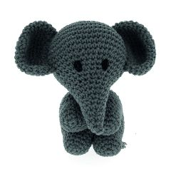 DIY Crochet Set Elephant Eco Barbante Lava