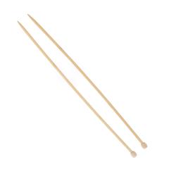 Agujas de hacer punto de bambú de 6 mm