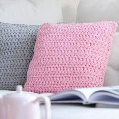 DIY Crochet Kit RibbonXL Cushion Sweet Pink