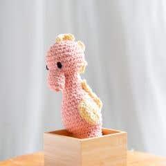 DIY Crochet Kit Seahorse Bubbles Eco Barbante Apricot