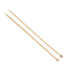Agujas de hacer punto de bambú de 8 mm