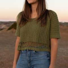 DIY Crochet Pattern Grand Bend Box Tee