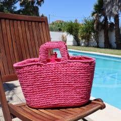 DIY Crochet Shopper Kit Bubblegum