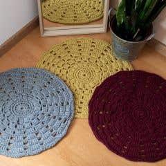 DIY Crochet Pattern RibbonXL Mandala Rug