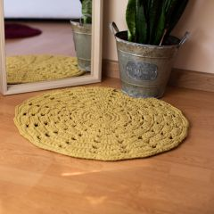 DIY Crochet Kit RibbonXL Mandala Rug Spicy Ocre