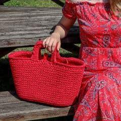 DIY Crochet Kit Shopper Lipstick Red