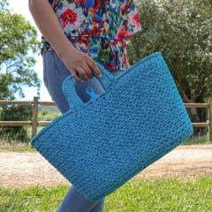 DIY Crochet Kit Shopper Sea Blue