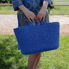 DIY Crochet Shopper Kit Imperial Blue