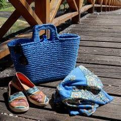 DIY Häkelset Shopper Imperial Blue