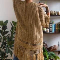 DIY Crochet Pattern Sandbanks Duster Cardigan