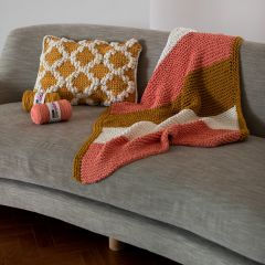 DIY Knitting Pattern Lap Blanket Siurana