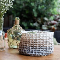 DIY Crochet Pattern Waffle Stitch Bakset Tromso